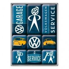 "Набор из 9 магнитов ""VW Service"" Nostalgic Art (83081)"