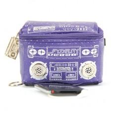 """Мини-сумка с динамиками """"Le Boom Box"""", фиолетовая"""