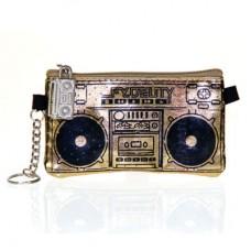 """Бумажник с динамиками """"Le Boom Box"""", золотистый"""