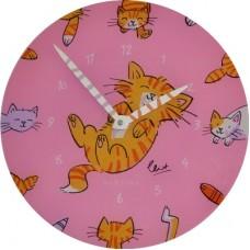 """Часы настенные """"Милые котики"""" Ø30 см"""
