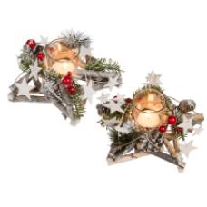 """Свеча в стакане в декорированной подставке """"Christmas"""""""