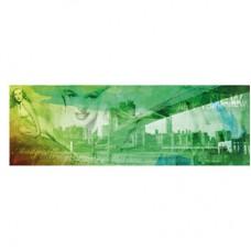 """Коллаж на холсте """"Мерилин в Нью Йорке"""" зеленый"""