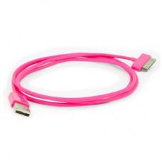 "USB кабель для iPhone и iPad ""Aiino"", розовый"