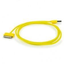 """USB кабель для iPhone и iPad """"Aiino"""", желтый"""