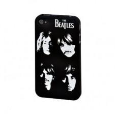 """Крышка для Iphone 4S """"Beatles white faces"""""""