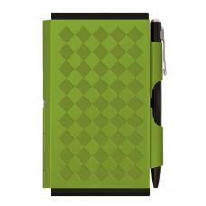 Карманный блокнот с ручкой Troika Diamond, зеленый