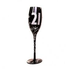 """Бокал для шампанского """"21"""", черный"""