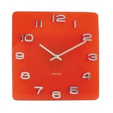"""Часы настенные """"Винтаж"""", красные, на батарейке"""