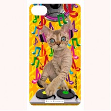 3-D вкладыш для iPhone DJ cat