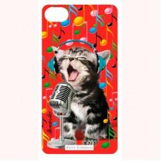"3-D вкладыш для iPhone ""Singer cat"""