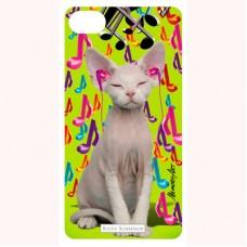 "3-D вкладыш для iPhone ""Music cat"""