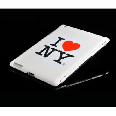 "Крышка для IPad 2 ""I Love NY"", белая"