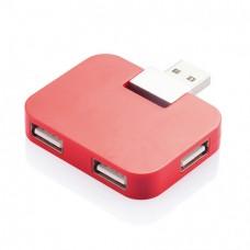 Компактный USB-хаб, красный