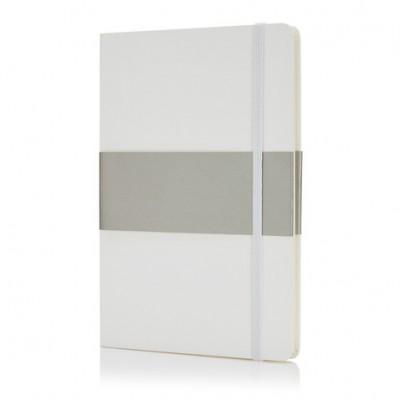 Блокнот в твердой обложке формата A5 белый