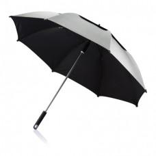 Антиштормовой зонт-трость Ураган, серый
