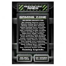 """Постер """"Gaming Zone: правила"""""""
