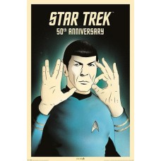 "Постер ""Star Trek (Spock 5-0) 50th Anniversary"""