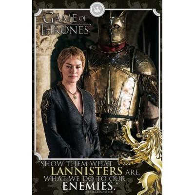 """Постер """"Game of Thrones (Cersei - Enemies) / Игра Престолов"""""""