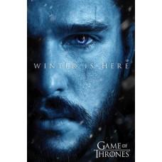 """Постер """"Game Of Thrones (Winter is Here - Jon) / Игра Престолов"""" 61 x 91,5 cм"""