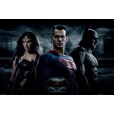 Постер Batman V Superman Trio / Бэтмен & Супермен