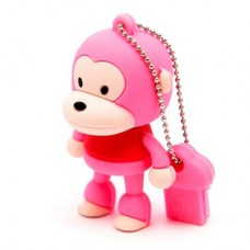 "Флеш-накопитель ""Обезьяна"", розовый, 4Гб"