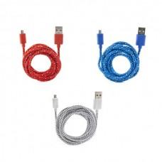 Кабель микро-USB ассортимент 3 цвета
