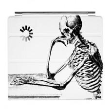 """Чехол для iPad 2 """"Скелет-мыслитель"""""""