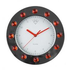 "Часы настенные ""Бриллианты"", красные"