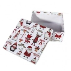 Коробка подарочная ООТВ Рождественские мотивы 16 х 16 х 8 см