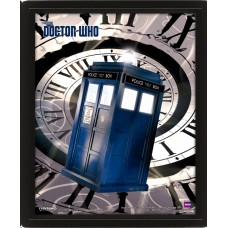 "3D Постер ""Doctor Who (Tardis Time Spiral)"""
