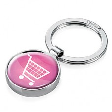 Брелок Troika Shopping, розовый