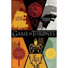 """Постер """"Game of Thrones (Sigils) / Игра Престолов"""" 61 x 91,5 cм"""