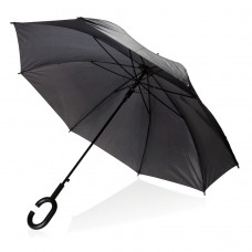 Зонт с рукояткой формы C для пользователей смартфонов