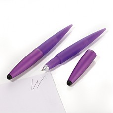 Ручка шариковая со стилусом Troika Комфорт, фиолетовая