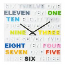 """Часы настенные """"One Two Three"""" цветные  35х35 см"""