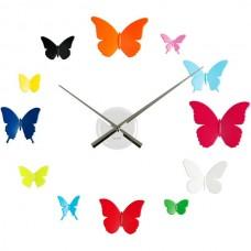 """Часы настенные """"DIY бабочки"""" цветные"""