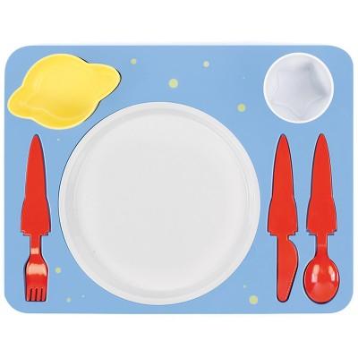 Набор детской посуды для обеда, голубой