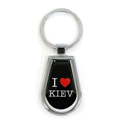 "Брелок ""I Love Kiev"", черный"