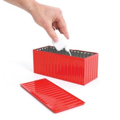 Коробка для хранения бытовых вещей, красная