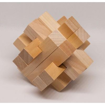 Набор из 3 деревянных головоломок-антистрессов разного уровня сложности