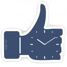 """Часы настенные """"Thumbs Up!"""", синие 23х20 см"""