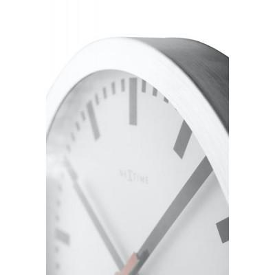 "Часы настенные ""Station"", белые Ø19 см"