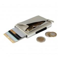 Бумажник на молнии OGON Cascade, светло-серый