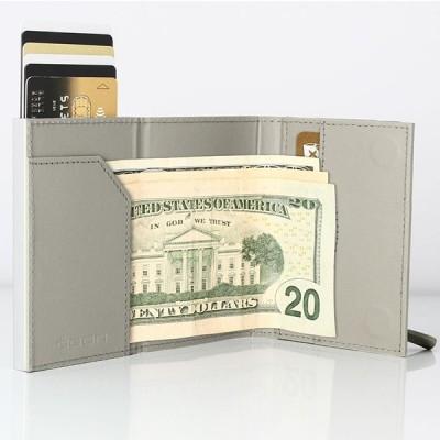 Бумажник на молнии OGON CASCADE SLIM ZIPPER, светло-серый