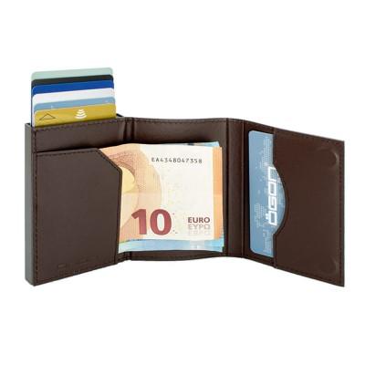 Бумажник на молнии OGON CASCADE SLIM ZIPPER, коричневый