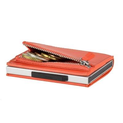 Бумажник на молнии OGON CASCADE SLIM ZIPPER, оранжевый