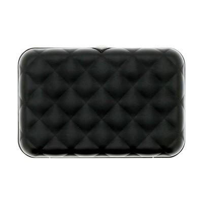 Кардхолдер OGON Quilted Button на 10 карт, черный