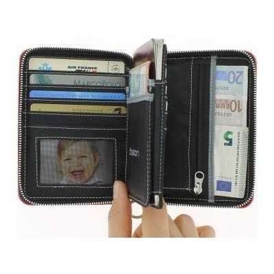 Кошелек на молнии OGON Quilted Passport, черный