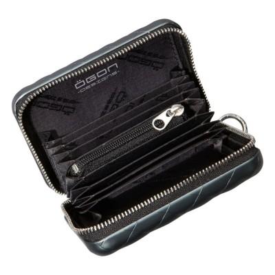 Бумажник на молнии OGON Quilted zipper на 24 карточки, черный