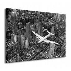 "Фотокартина ""Самолет DC-4 над Манхэттеном"" 60 х 80 см"